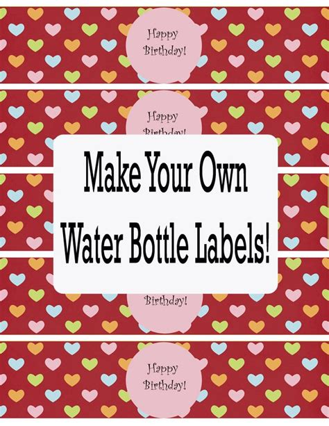 templates for business labels printable water bottle labels free templates template design