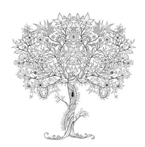 tree coloring page adult coloring club