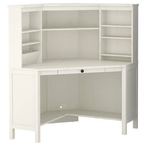 Corner Desk Idea Hemnes Corner Workstation White Stain Ikea I Would To Work Something Like This Into A