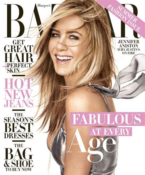 Is Cover Of Harpers Bazaar by Aniston Us S Bazaar Magazine April 2016