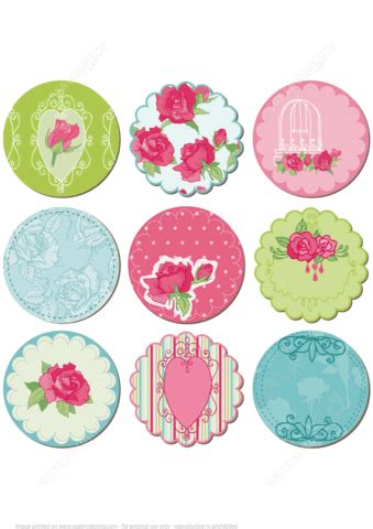 flower tags template free printable scrapbook tags with flowers free