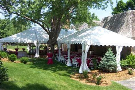 TENT FOR OUTDOOR WEDDING PARTY IN OMAHA, NE