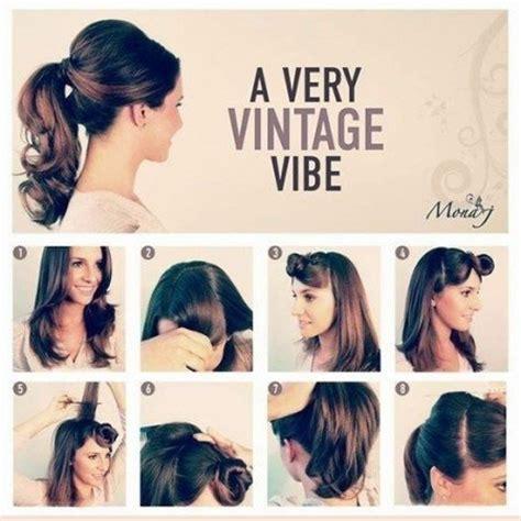 diy 1950 hairstyle 50s hairstyles for long hair tutorial foto video