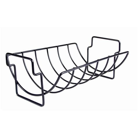 Rib Rack For Grill by Charcoal Companion Non Stick Reversible Roasting Rib Rack
