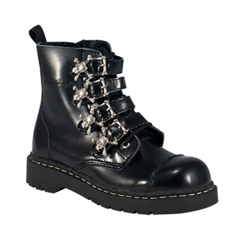 skull boots skull buckle womens combat boots tuk shoes
