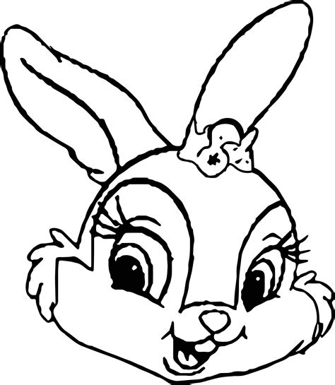 coloring pages bunny face thumpers sisters and miss bunny face coloring pages