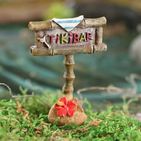 Miniature Tiki Bar Miniature Quot Tiki Bar Quot Sign Kitchen Miniatures Dollhouse