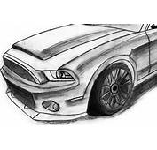 How To Draw A Mustang  Speed Drawing HD Drawings N Stuff