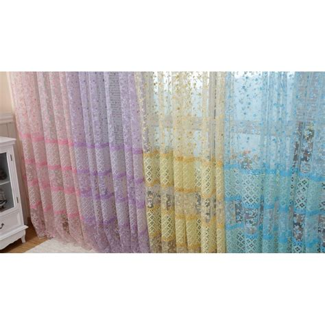 pink tulle curtains beautiful printed curtain tulle fabric yelllow purple