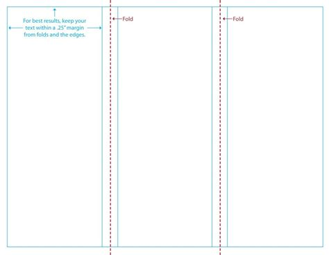 blank tri fold brochure template without background