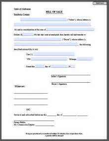 printable bill of sale form free fillable pdf forms free fillable