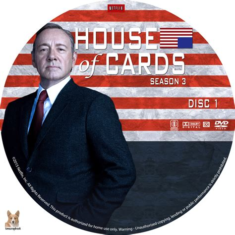 house of cards dvd house of cards season 3 dvd cover labels 2015 r1 custom