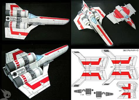 Battlestar Galactica Papercraft - of papercraft x wing fighter and colonial viper