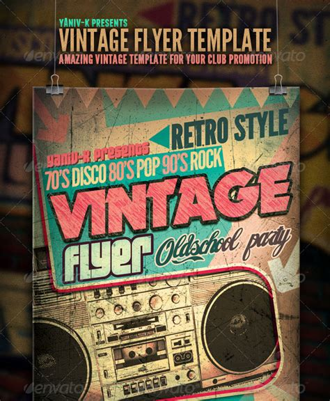 retro poster template 25 retro vintage psd flyer templates web graphic