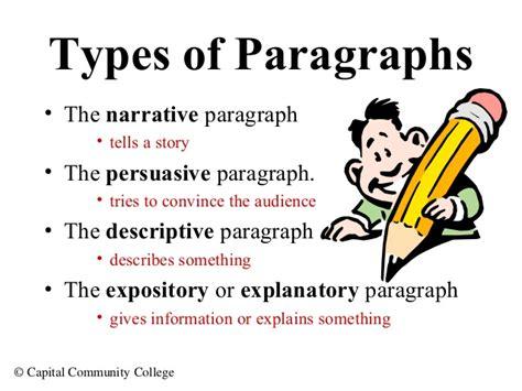 paragraph types paragraph