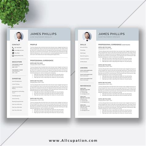 cool resume templates for mac creative resume template modern cv template word cover letter references instant