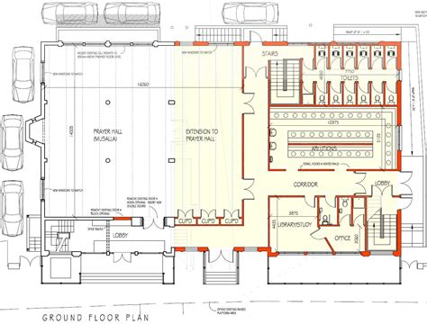 Floor Plan Of A Mosque by