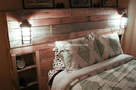 diy headboard with lights diy pallet headboard with lights pallet wood projects