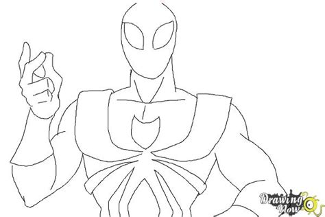 coloring pages of iron spider how to draw iron spider armor drawingnow