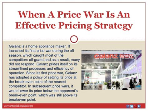 when is a an when a price war is an effective pricing strategy