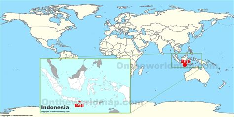 on world map bali on the world map