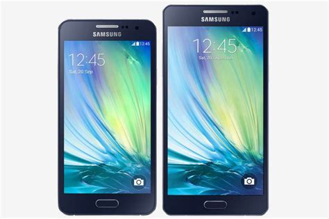 Samsung A3 A5 Samsung Announces The Galaxy A5 And A3 With Metal