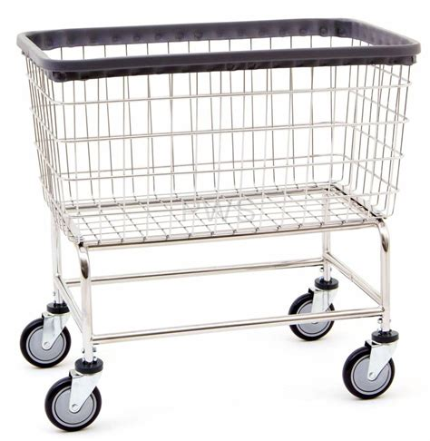 R B Large Capacity Rolling Laundry Cart Chrome Basket P N Large Laundry On Wheels