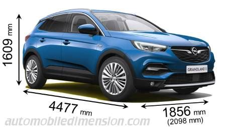 opel grandland x 2018 dimensions, boot space and interior