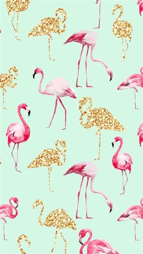 flamingo wallpaper buy flamingos we heart it flamingos gold and wallpaper