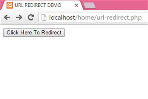 html tutorial redirect redirect from one page to another in php using button