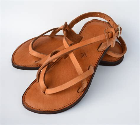 leather sandals leather sandals s sandals camel sandals brown