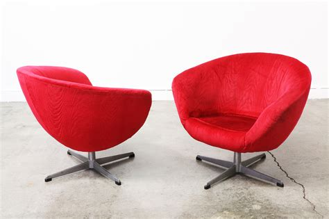 Vintage Swivel Red Pod Chairs Vintage Supply Store Retro Swivel Chairs