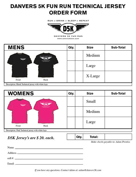 printable tee shirt order form search results calendar