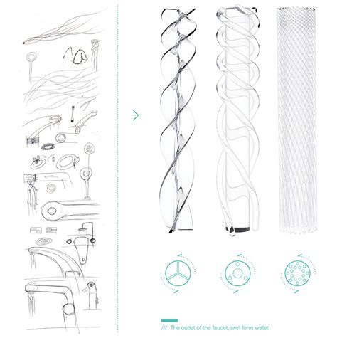 faucet design student s faucet design saves water by swirling it into