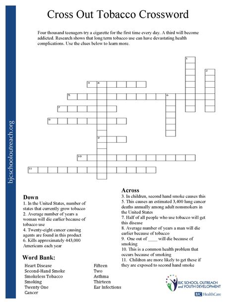 printable smoking quiz cross addiction worksheets share the knownledge
