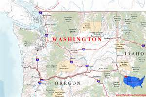 washington map washington maps
