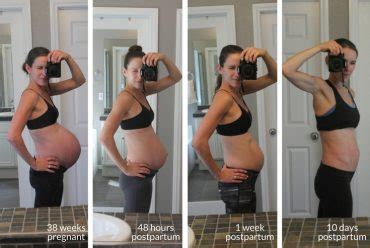 postpartum before and after physical kitchness