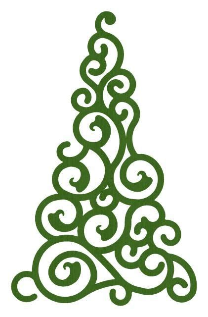 swirl christmas tree cameo files tutorials pinterest