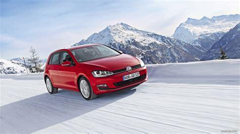 volkswagen snow 2014 vw golf 7 vii 2 0 tdi 4motion in snow front hd