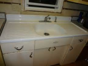 vintage 1950s youngstown kitchen sink and cabinet 54