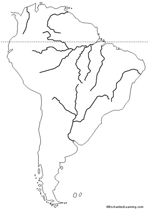 blank outline map of south america blank physical features map of south america