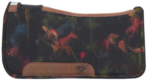 designer pad diamond wool 174 1 quot designer saddle pad