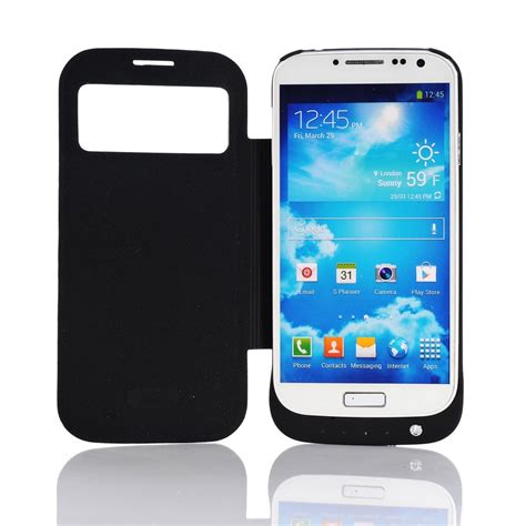 Battery Samsung Galaxy S4 black 3200mah external backup battery charger for