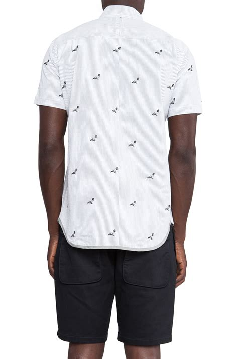 Fashion Find Staple Shirt For Work by Lyst Staple All Pigeon Button In White For