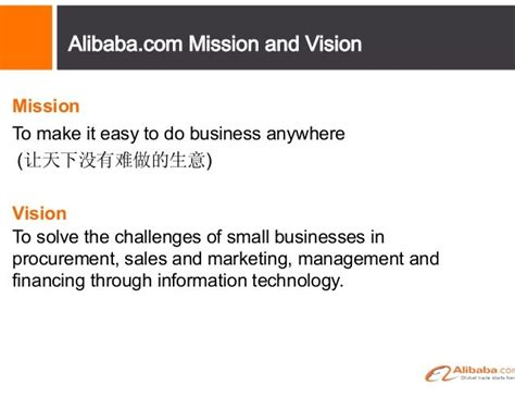 alibaba leadership program alibaba mission and vision mission statement exles