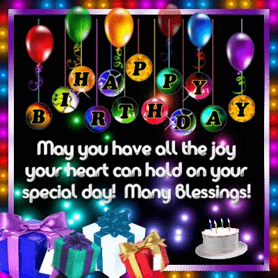 happy birthday and many blessings! free happy birthday