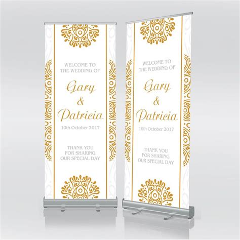 Wedding Banner With Stand by 7 Best Customised Wedding Roller Banners Images On