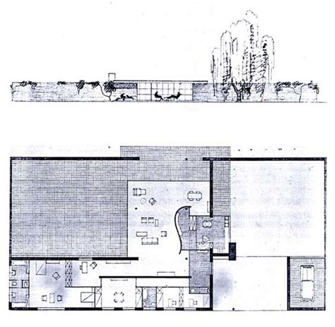 Ulrich Lange House Plan 1935 Mies Van Der Rohe Mies Mies Der Rohe House Plans