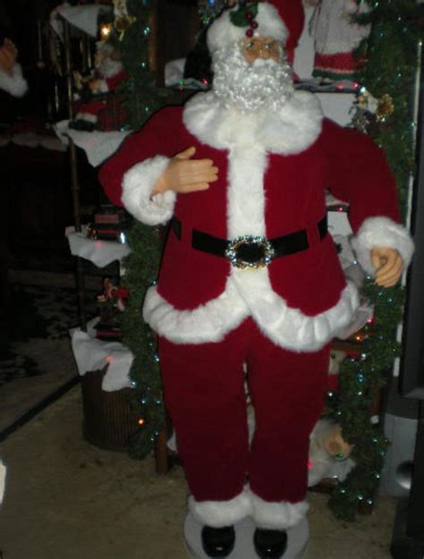 animated 5 foot 3 quot life size santa claus dances sings