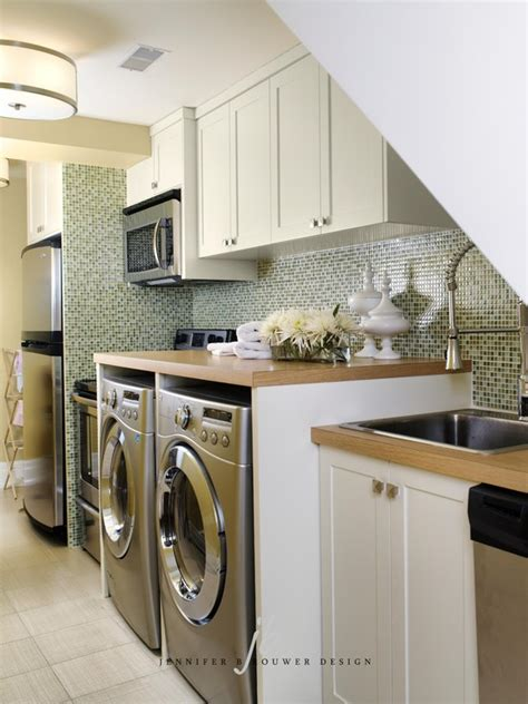 Laundry Room In Kitchen Ideas Laundry Room In Kitchen Contemporary Laundry Room Brouwer Design